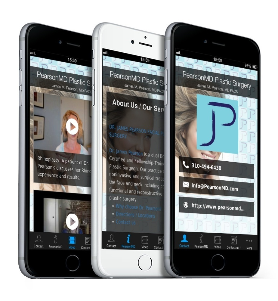 Smartphone App PearsonMD Plastic Surgery