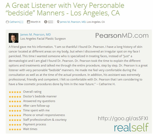 Review for Dr. James Pearson Facial Plastic Surgeon